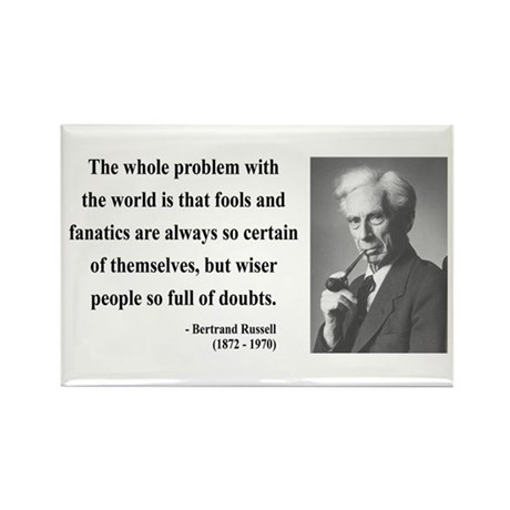 Bertrand Russell 2 Rectangle Magnet (100 pack)