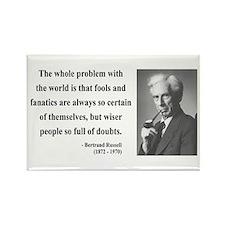 Bertrand Russell 2 Rectangle Magnet