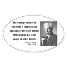 Bertrand Russell 2 Oval Decal