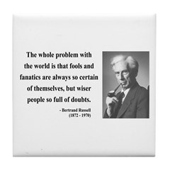 Bertrand Russell 2 Tile Coaster