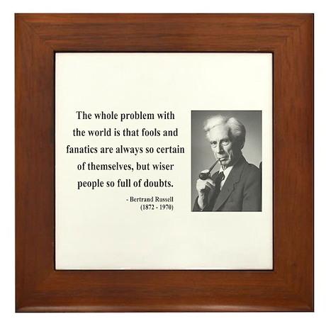 Bertrand Russell 2 Framed Tile