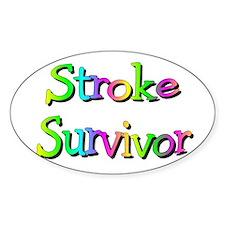 Stroke Survivor Oval Decal