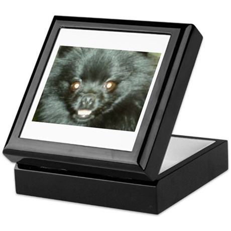 Black Pomeranian Keepsake Box