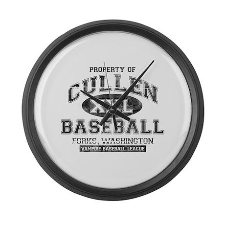 Property of Cullen Baseball Large Wall Clock