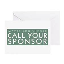 Call Your Sponsor Greeting Cards (Pk of 10)