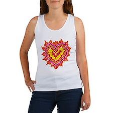 Heart on Fire Women's Tank Top