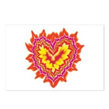 Heart on Fire Postcards (Package of 8)