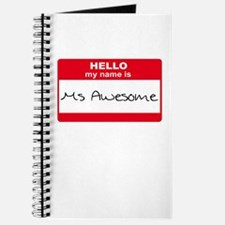 My Name Is Ms Awesome Journal