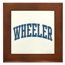 Wheeler Collegiate Style Name Framed Tile