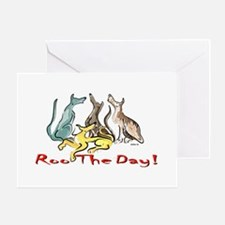 Greyhound Roo Color Greeting Card