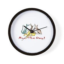 Greyhound Roo Color Wall Clock