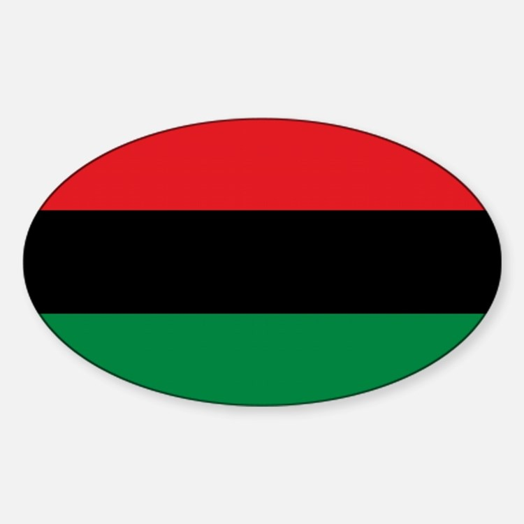 Africa Flag Decal Oval Decal