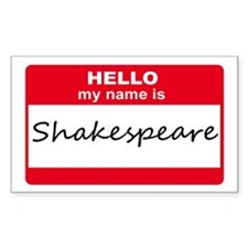 My Name Is Shakespeare Rectangle Decal