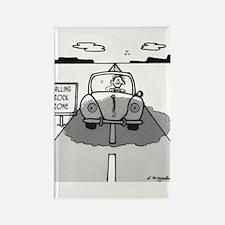 Falling Rock Cartoon 33 Rectangle Magnet (10 pack)