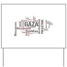 Gaza words Yard Sign