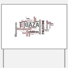 Gaza words Yard Sign