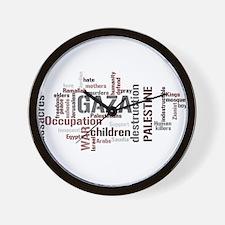 Gaza words Wall Clock