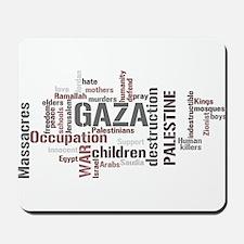 Gaza words Mousepad