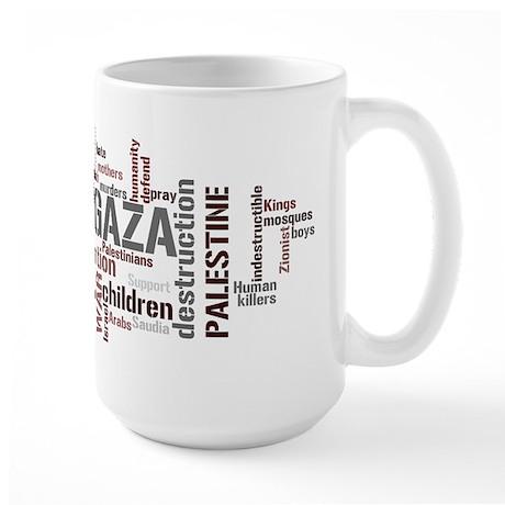 Gaza words Large Mug