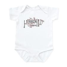 Gaza words Infant Bodysuit