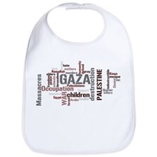 Gaza words Bib