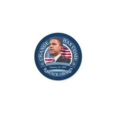 Change Has Come 1-20-09 Mini Button (10 pack)