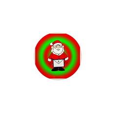Masonic Santa Mini Button/Ornament