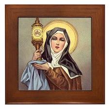 St Clare Framed Tile
