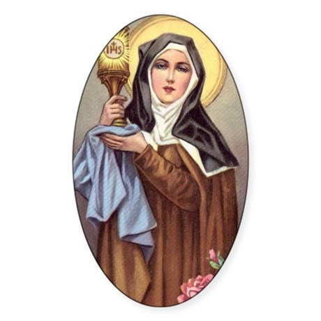 St Clare Oval Sticker