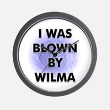 Blown by Hurricane Wilma Wall Clock