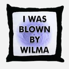 Blown by Hurricane Wilma Throw Pillow