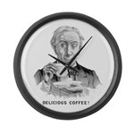 Delicious Coffee! Large Wall Clock