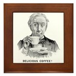 Delicious Coffee! Framed Tile