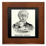 Delicious Coffee! Fr. Framed Tile