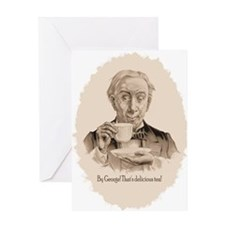 Great Tea Oval Greeting Card