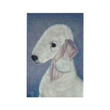 Bedlington (Blue) Rectangle Magnet