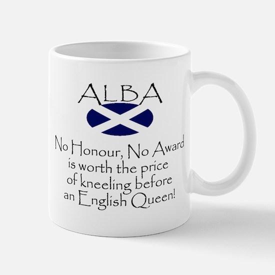 No Kneeling Horizontal Mug