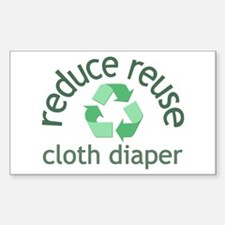 Recycle & Cloth Diaper - Rectangle Decal