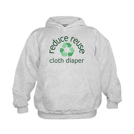 Recycle & Cloth Diaper - Kids Hoodie