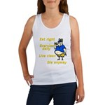Eat right, Die anyway Women's Tank Top