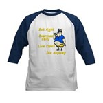 Eat right, Die anyway Kids Baseball Jersey