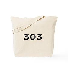303 Area Code Tote Bag