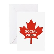 Social Work Maple Greeting Card