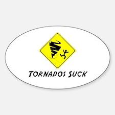 Tornados Suck! Oval Decal