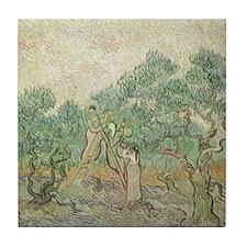 Van Gogh Olive Picking Tile Coaster