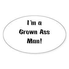 Grown Ass Man Oval Decal