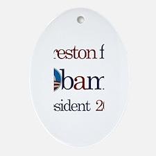 Preston for Obama 2012 Oval Ornament