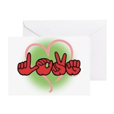 LoveWithHeart Greeting Card