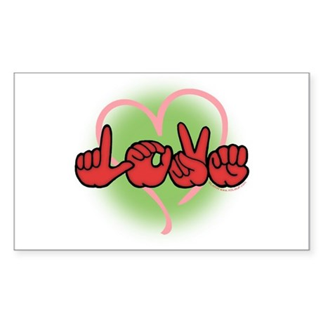 LoveWithHeart Rectangle Sticker