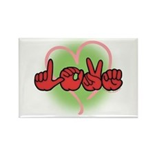 LoveWithHeart Rectangle Magnet